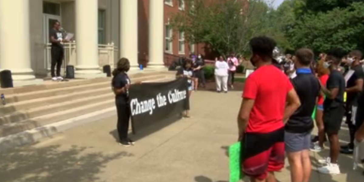 Black Student Unions march against social injustice in Owensboro