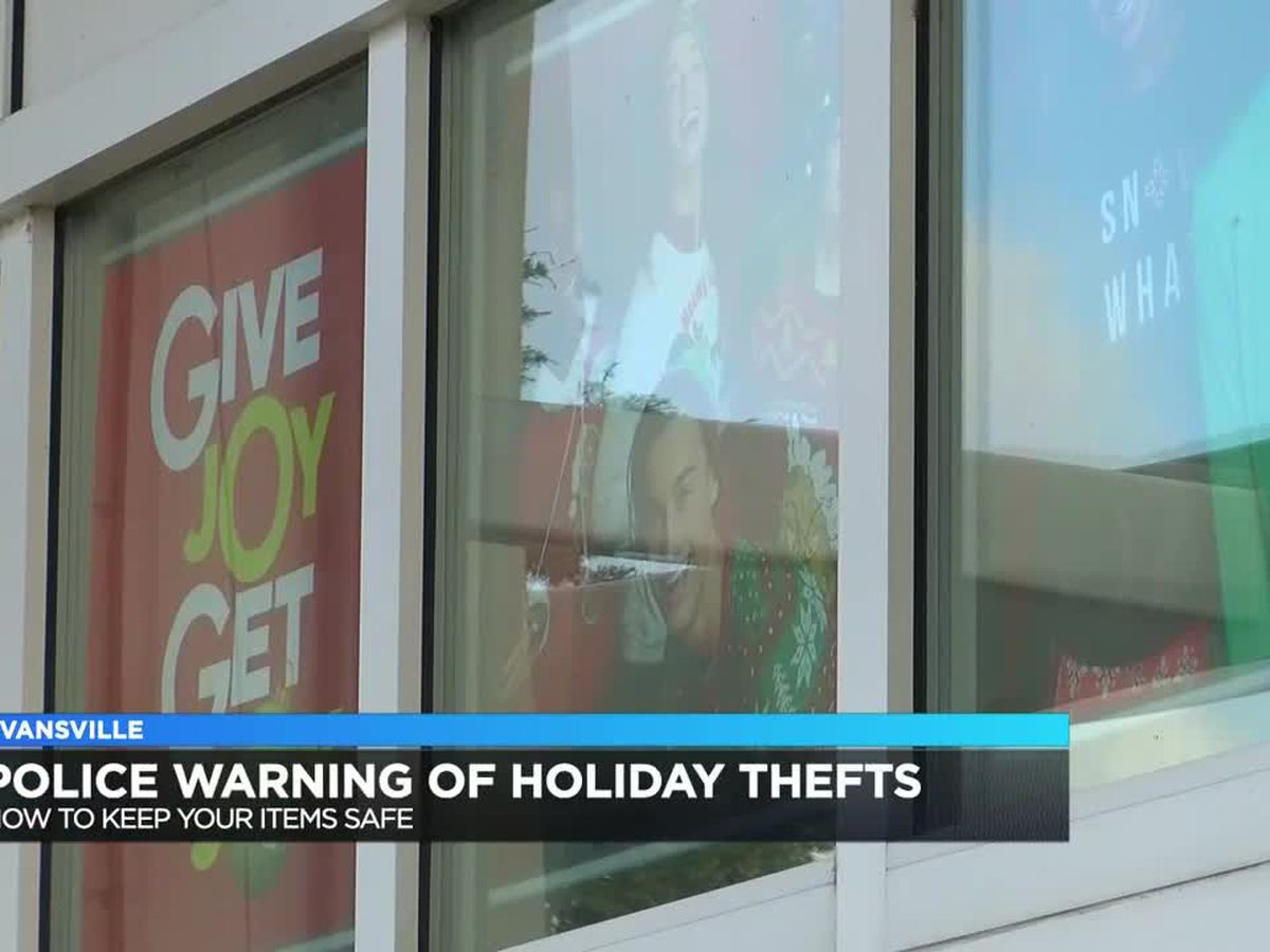 Evansville police remind holiday shoppers to protect their valuables this season