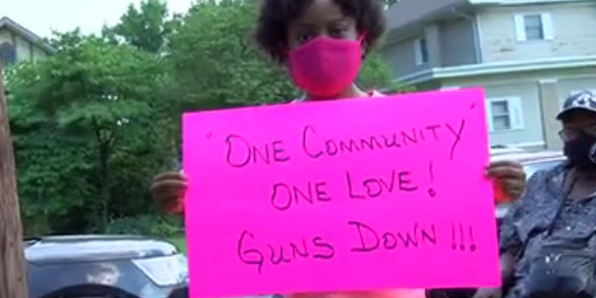 MASK of Evansville marches against gun violence