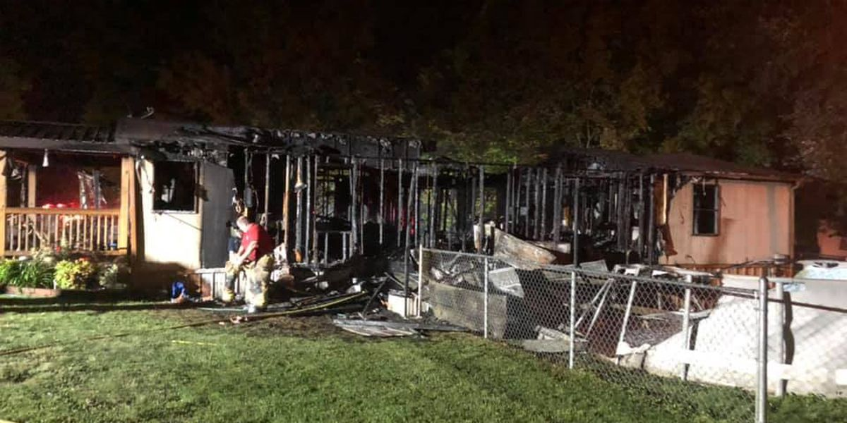 Fire destroys home in White Plains, KY