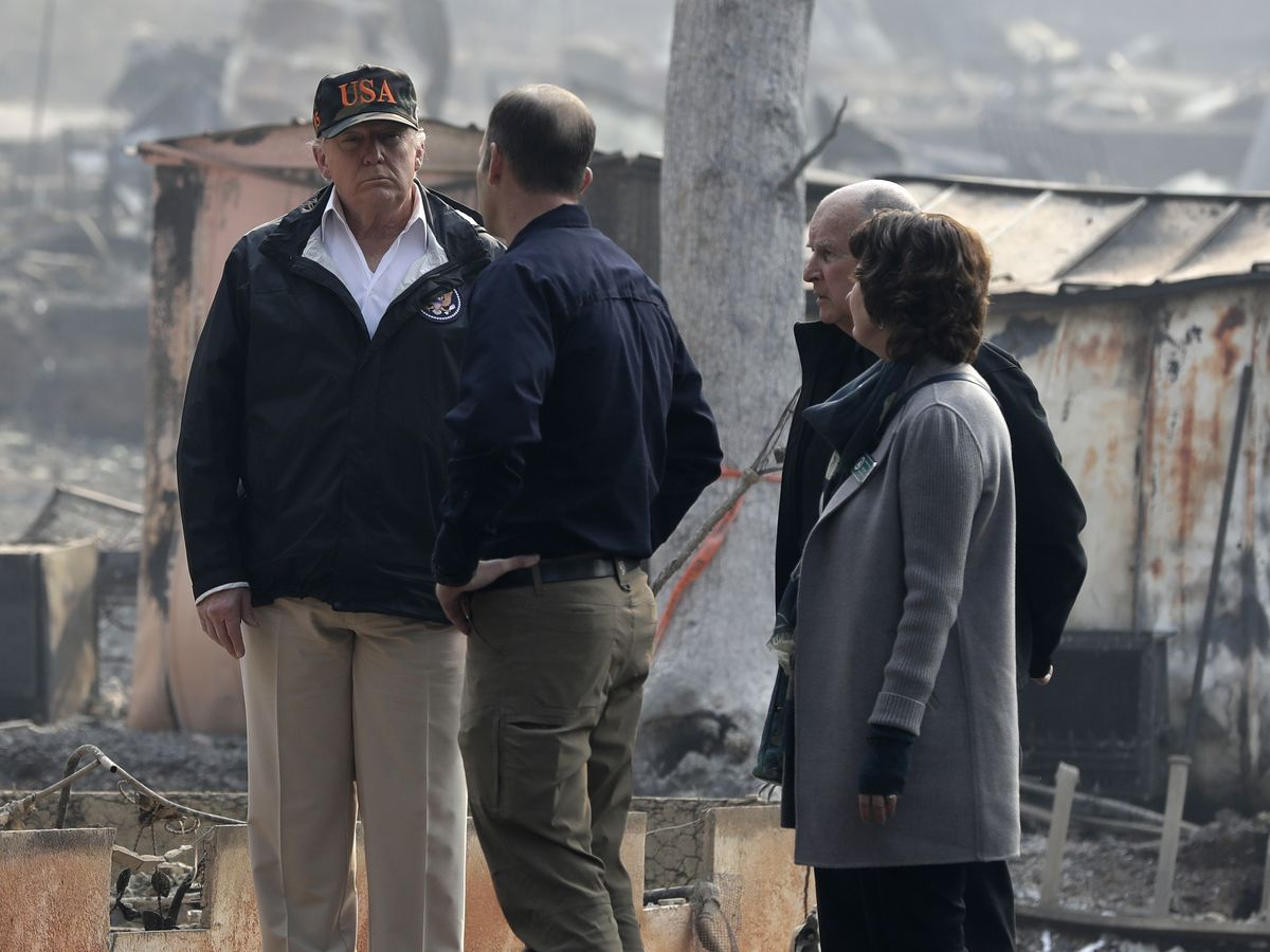 Trump consoles Californians suffering from twin tragedies