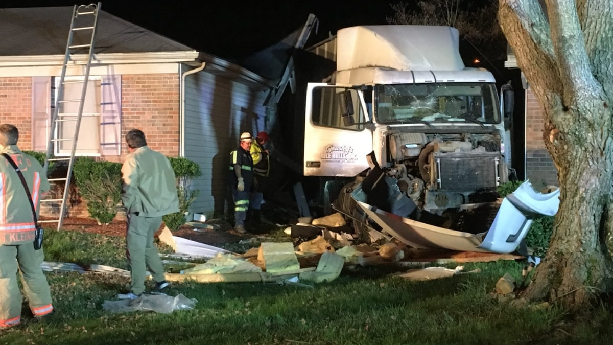 Deputies on scene after semi crashed into home