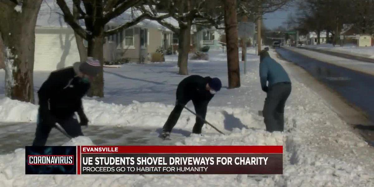 UE students shovel driveways, donate proceeds to local nonprofit