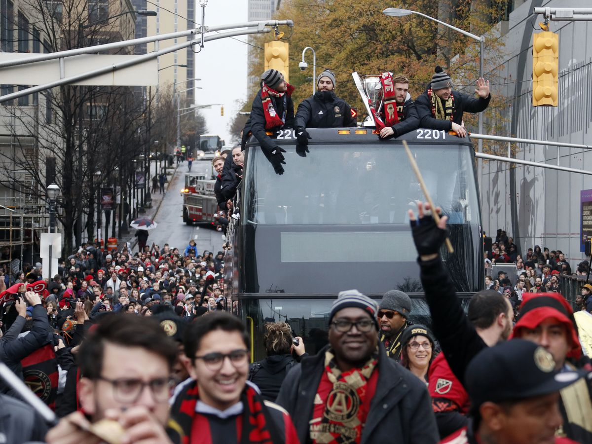 Atlanta celebrates a title, but revelry won't last long