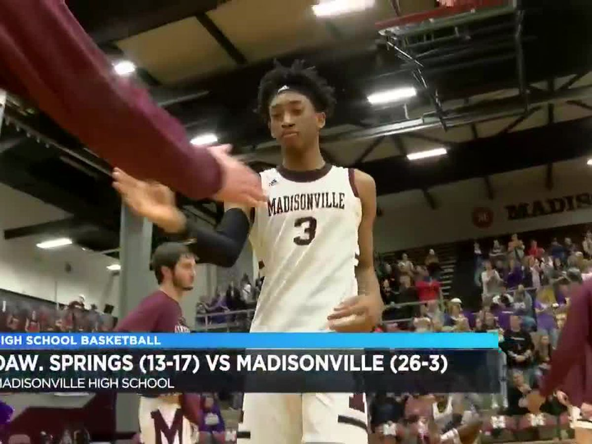 Dawson Springs vs Madisonville boys district basketball highlights