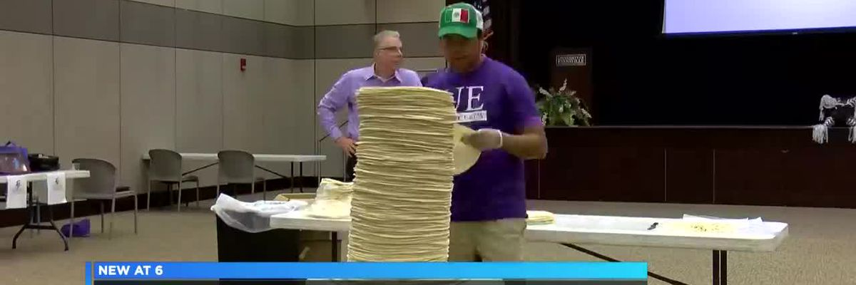 UE professor sets world record for tortilla stacking