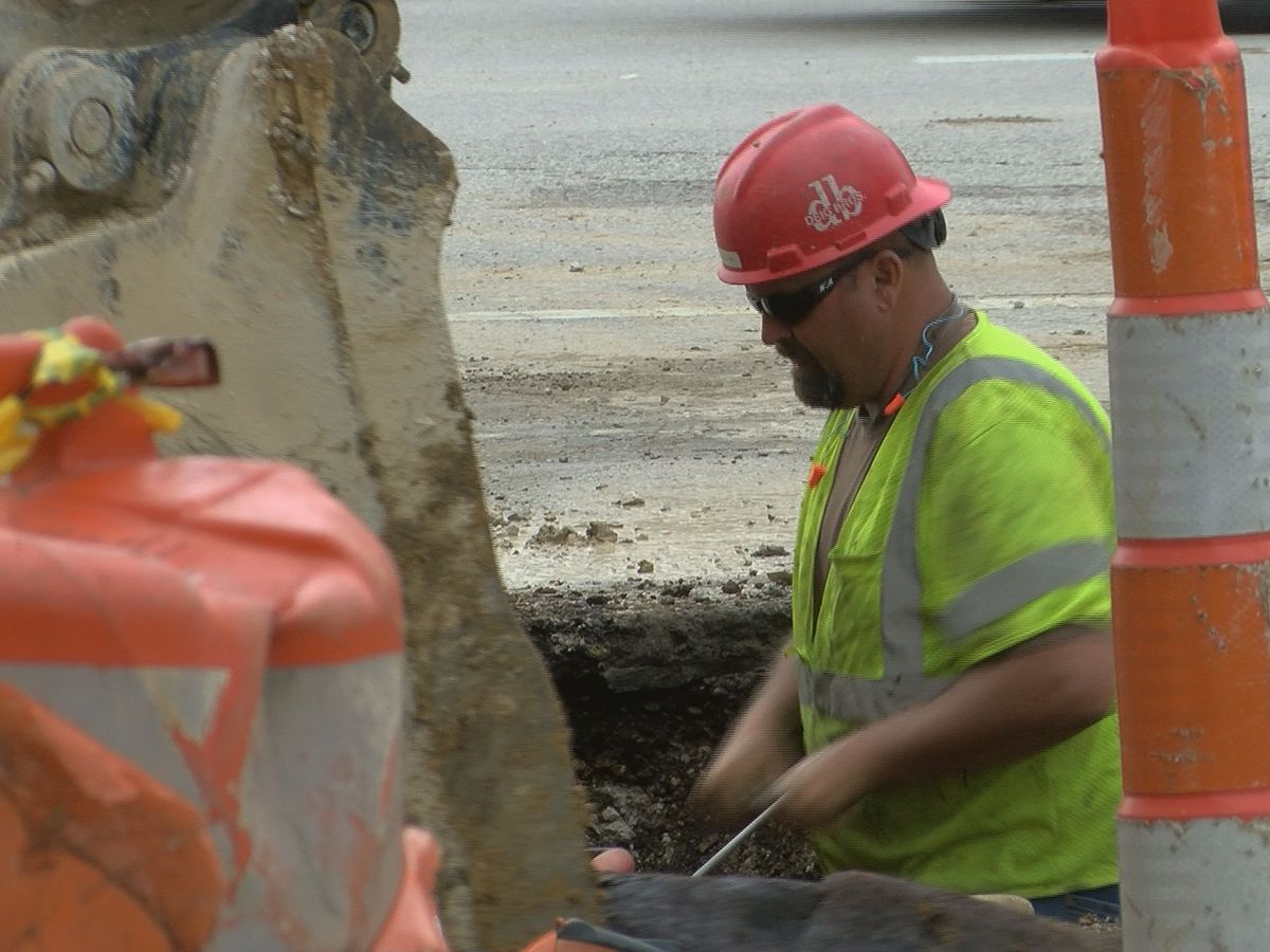 Construction on Boonville Square concerning business owners