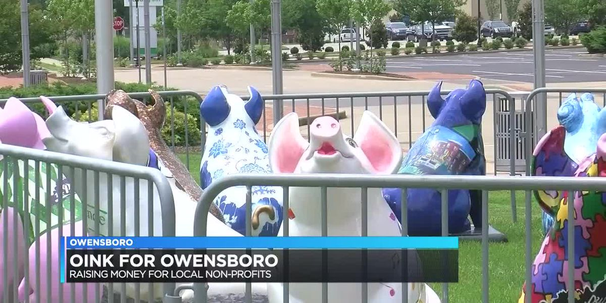 Oink for Owensboro sculptures placed near convention center