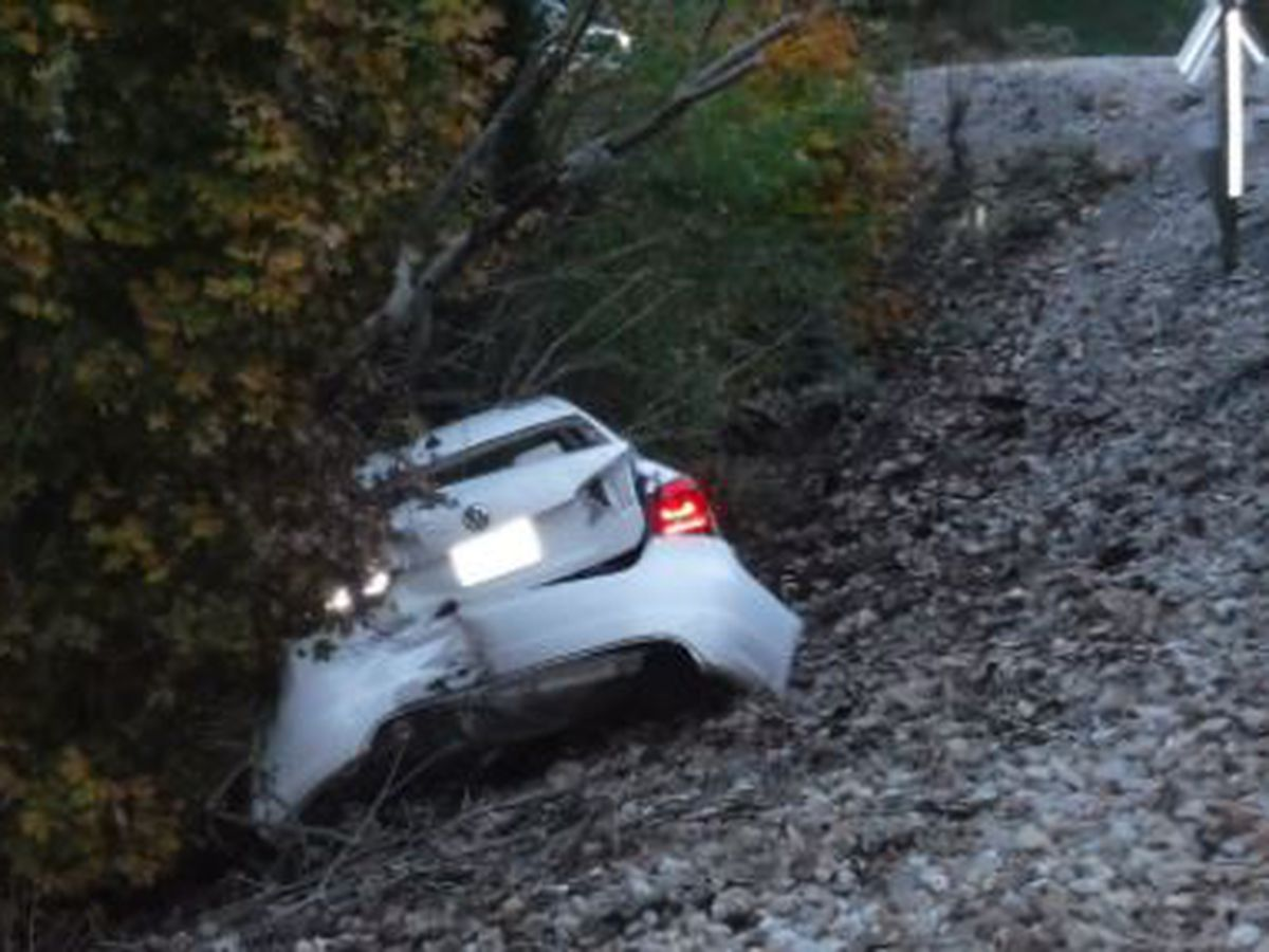 Deputies: Train hits empty car after teen driver left it on the tracks