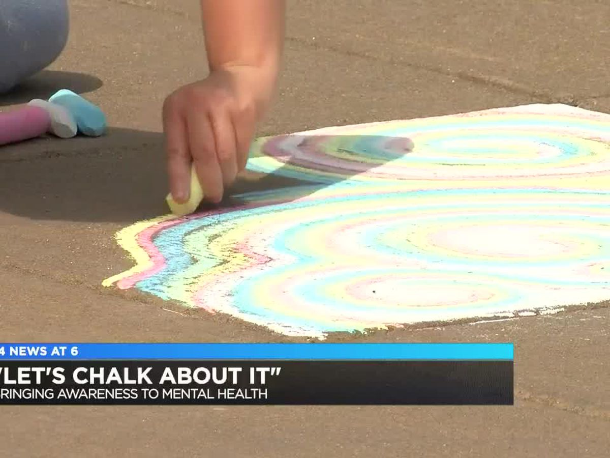 'Let's Chalk About It' event held in Evansville