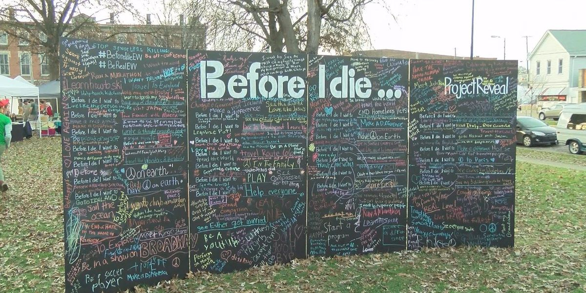 "Non-profit hosts ""Before I Die"" project on Franklin St."