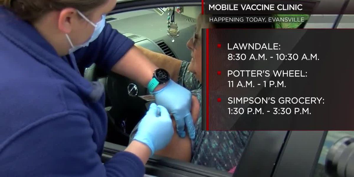Evansville's mobile vaccine clinic hitting road again Tuesday