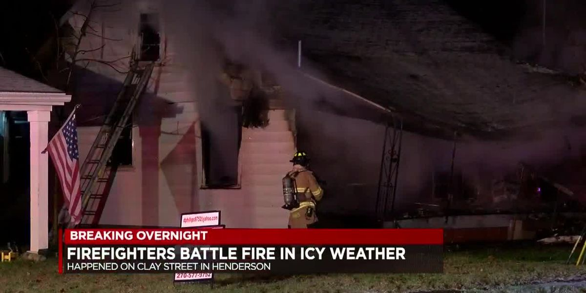 Crews battle Henderson fire in difficult weather conditions