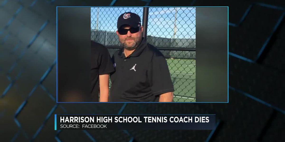 Harrison High School tennis coach dies