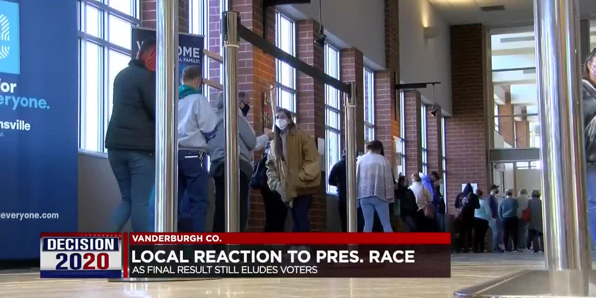 Locals react to presidential race