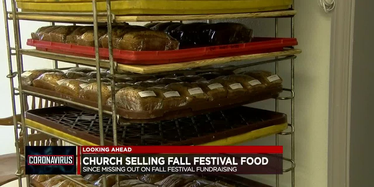Christ Gospel Church setting up food booth to help with missing out on Fall Festival fundraising