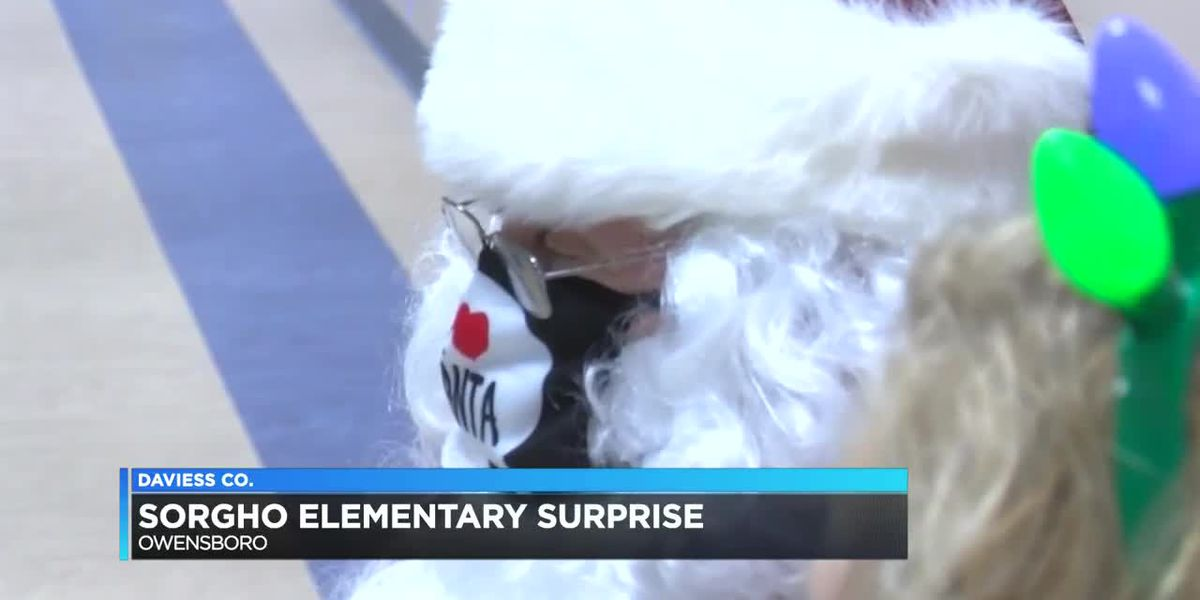 Students, teachers at Sorgho Elementary get special surprise from Santa