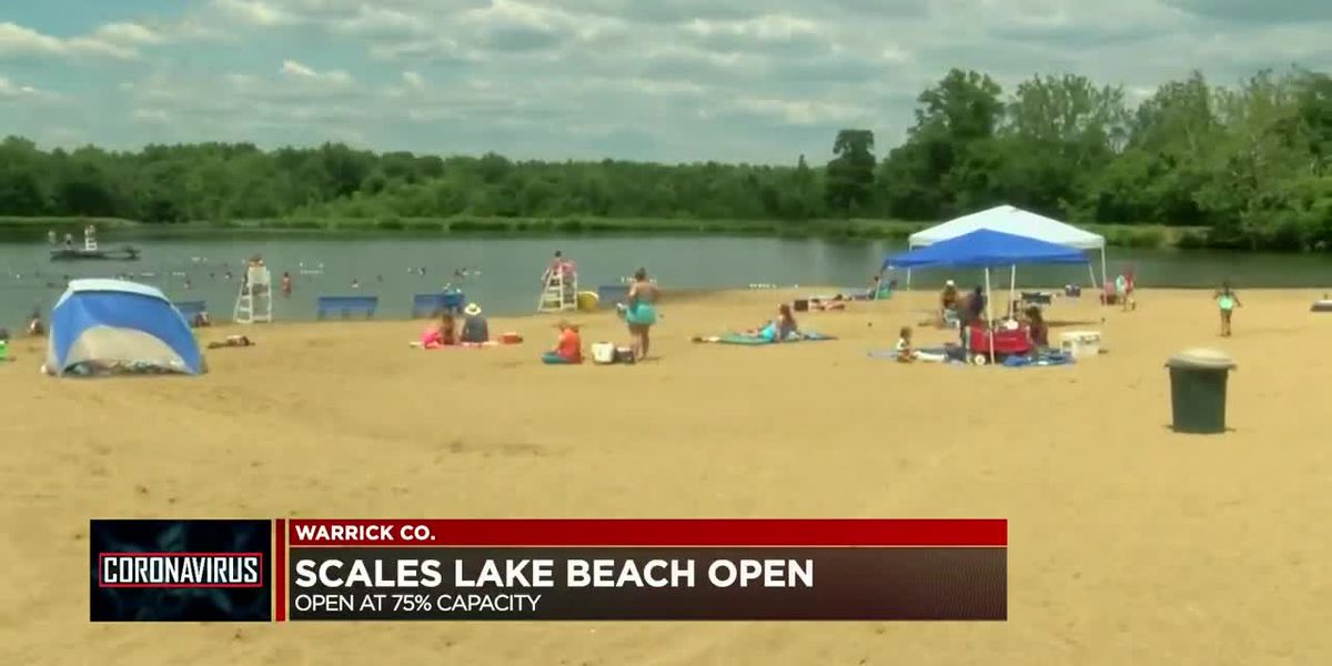 Scales Lake Beach reopens with COVID-19 restrictions