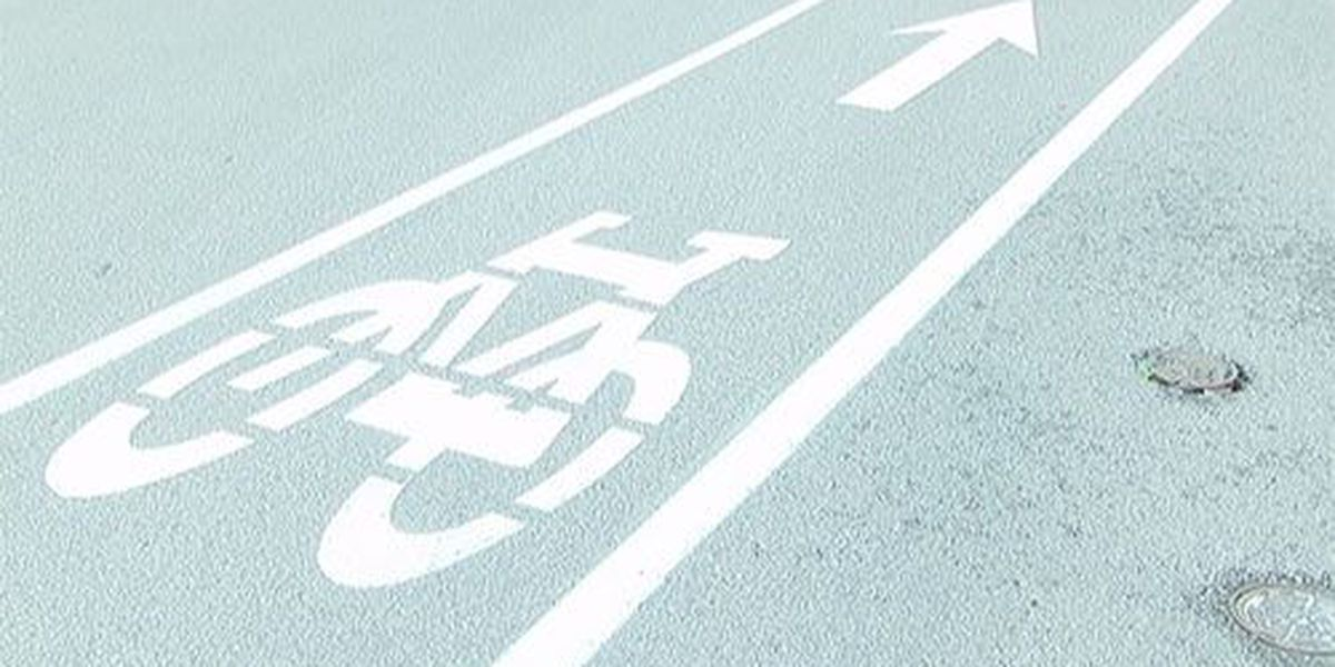City of Henderson paints new bicycle paths downtown