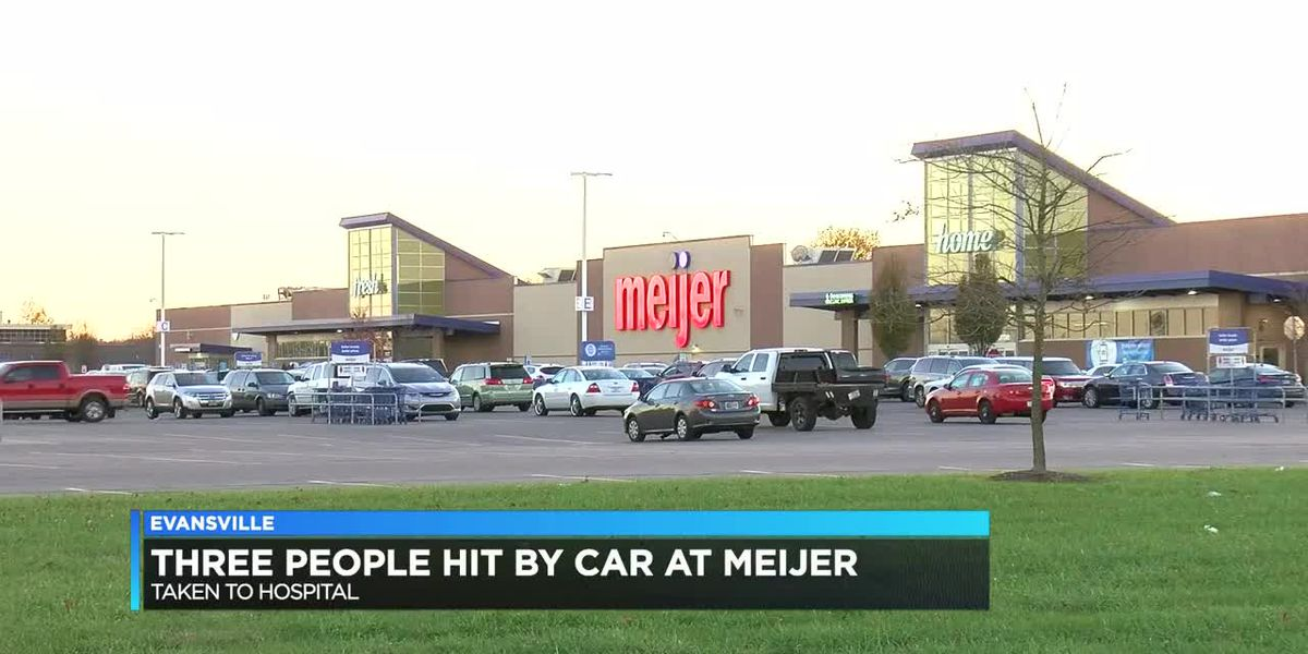 3 people, including toddler, hit by car outside Evansville Meijer