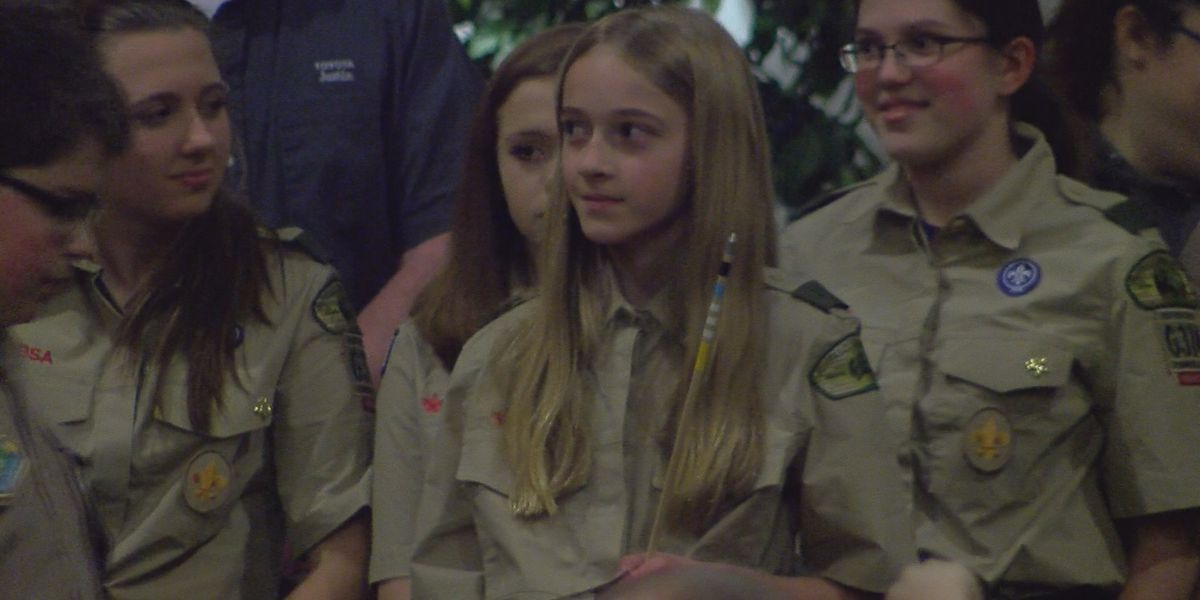 Evansville girl makes history crossing from Cub Scouts to BSA