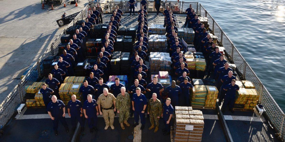 U.S. Coast Guard seizes $466 million worth of cocaine in coordinated drug raid