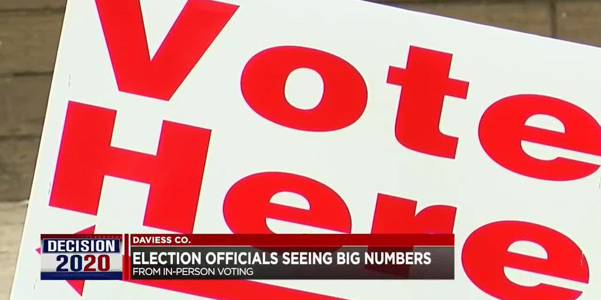 Daviess Co. witnessing high turnout from in-person voting