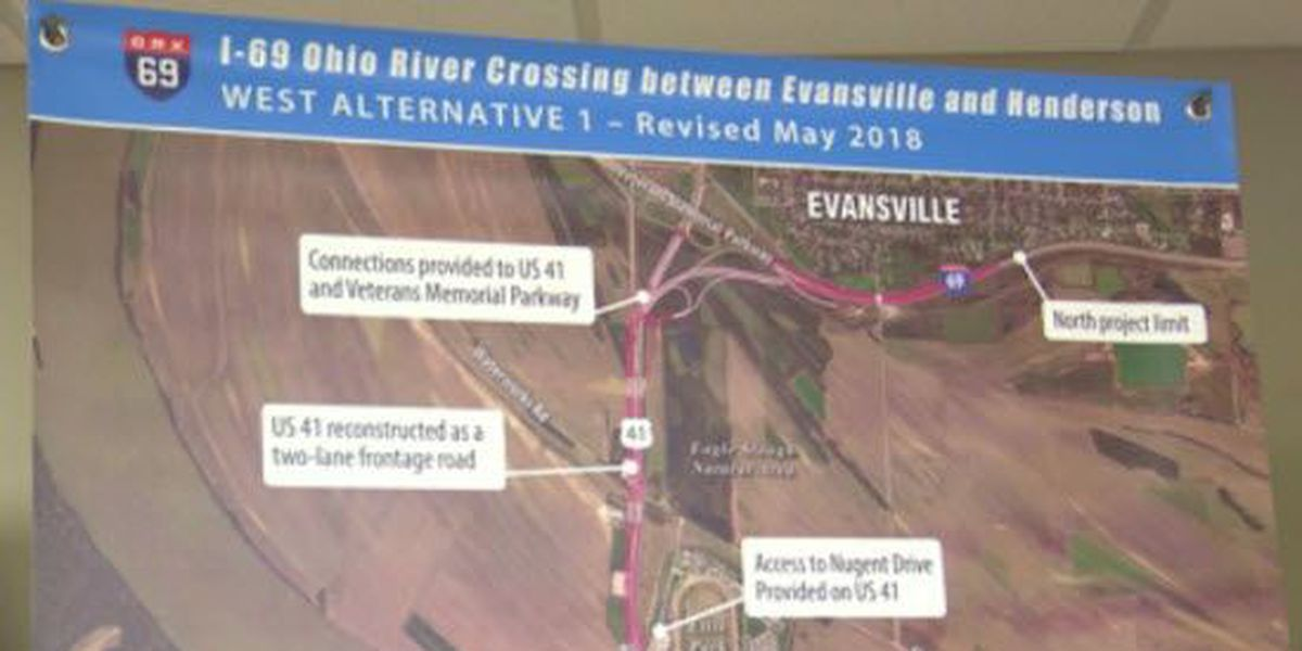 Changes made to I-69 Ohio River Crossing alternative routes