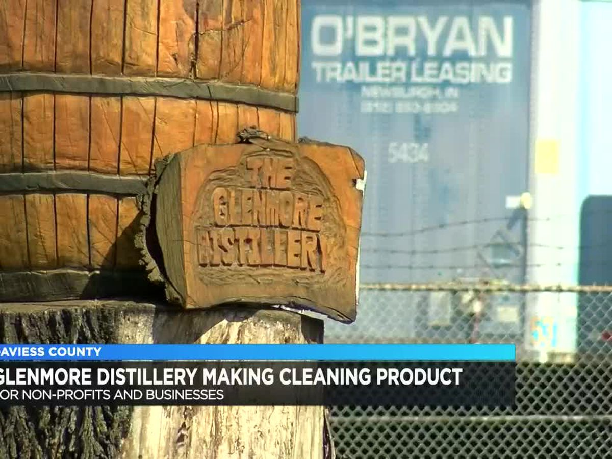 Glenmore Distillery, OZ Tyler Distillery make cleaning products for non-profits, businesses