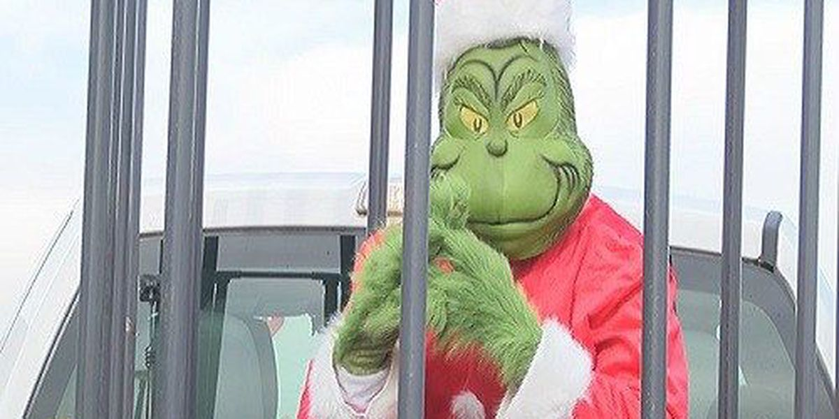 The Grinch makes a surprise visit to the Eastland Mall to remind people holiday safety tips