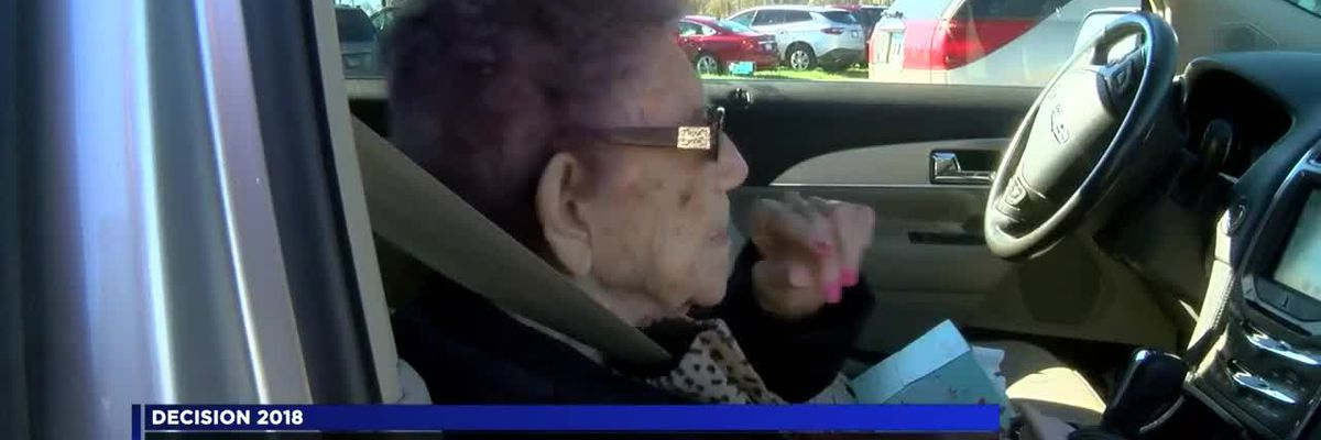 99-year-old woman votes