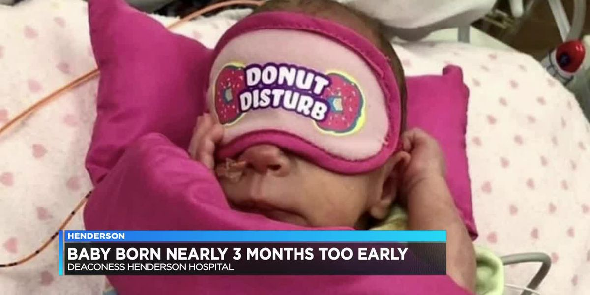 Posey County parents find doll clothes to fit their baby born nearly 3 months early