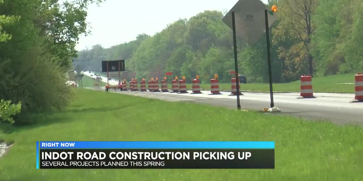INDOT road construction picking up with several projects planned this spring