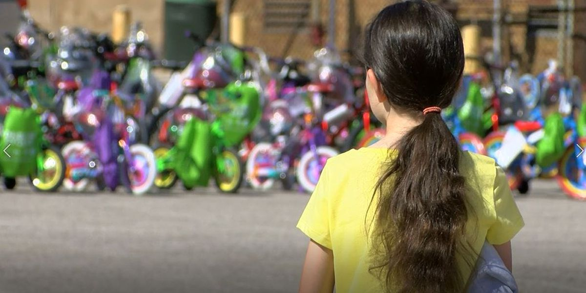 Local foster children receive free bicycles