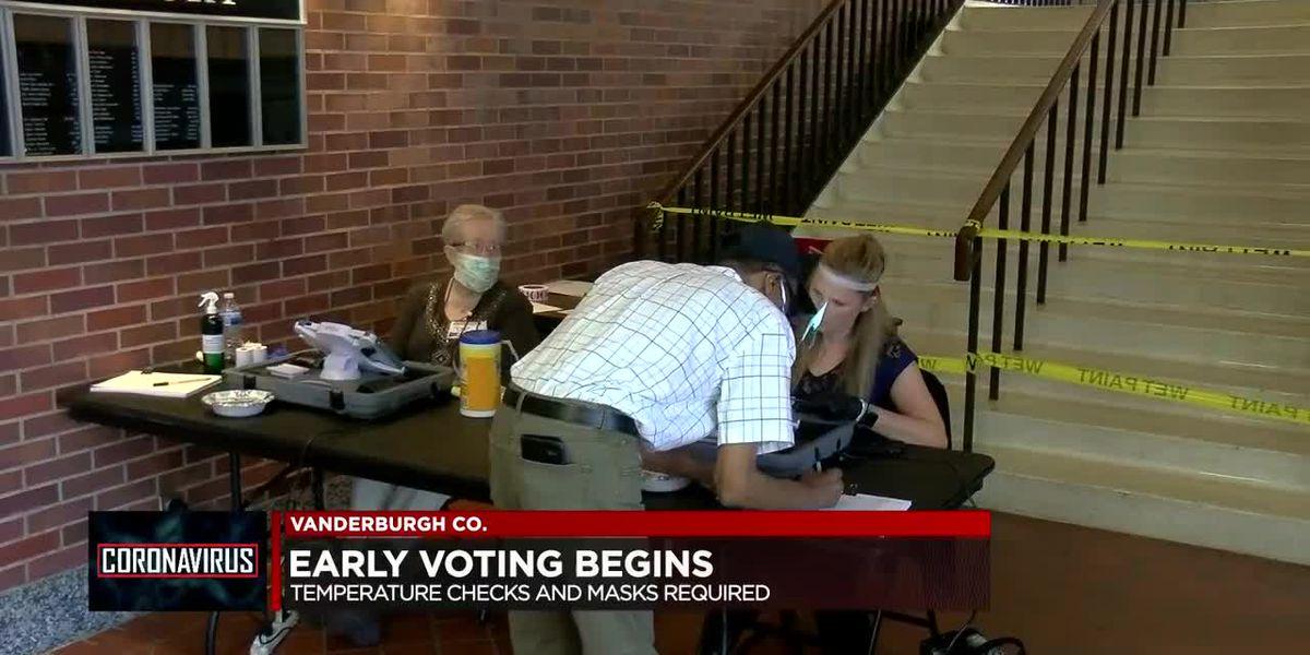 Early voting begins in Vanderburgh County with social distancing