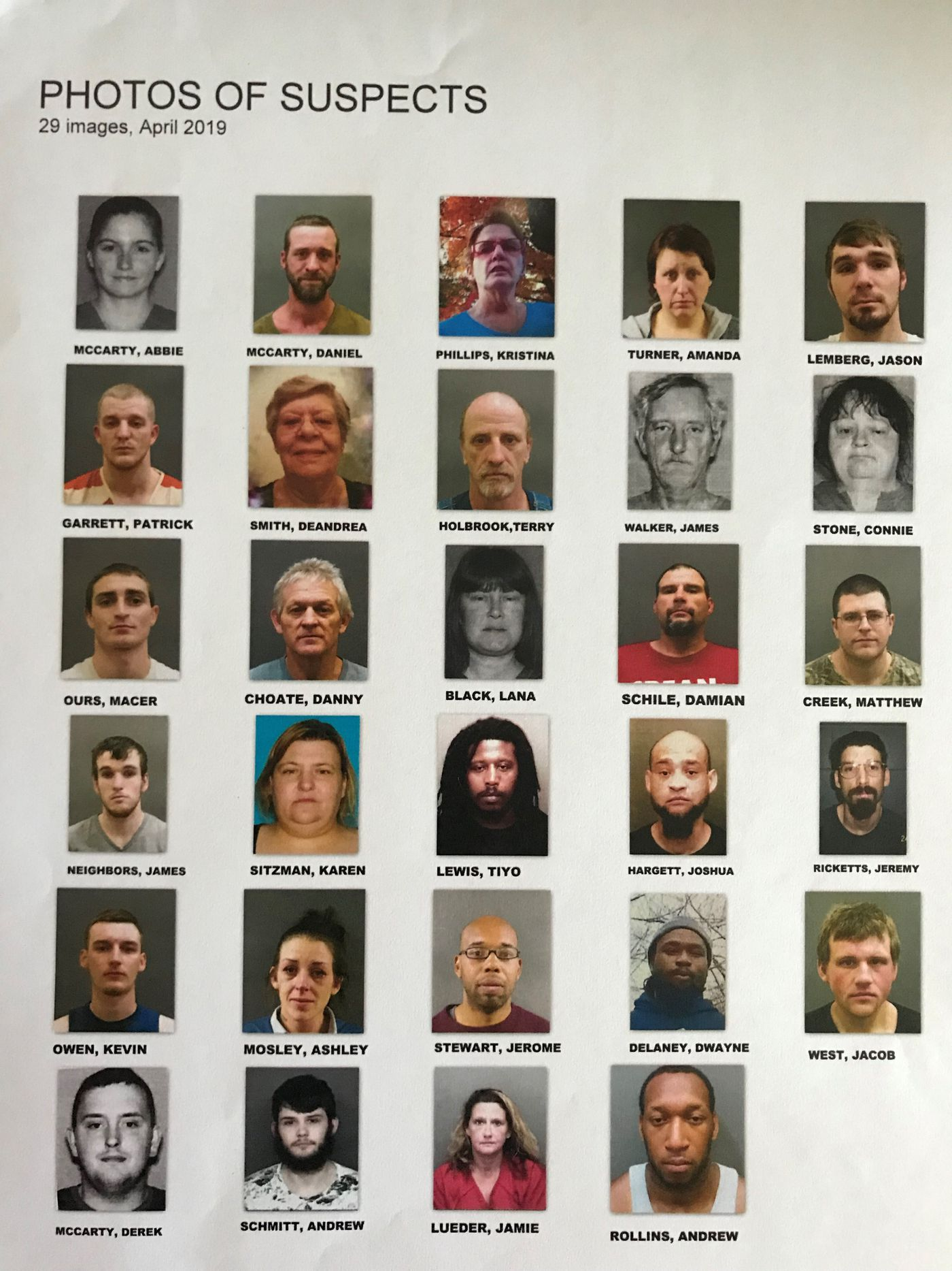 38 arrested in largest raid in Posey Co  history