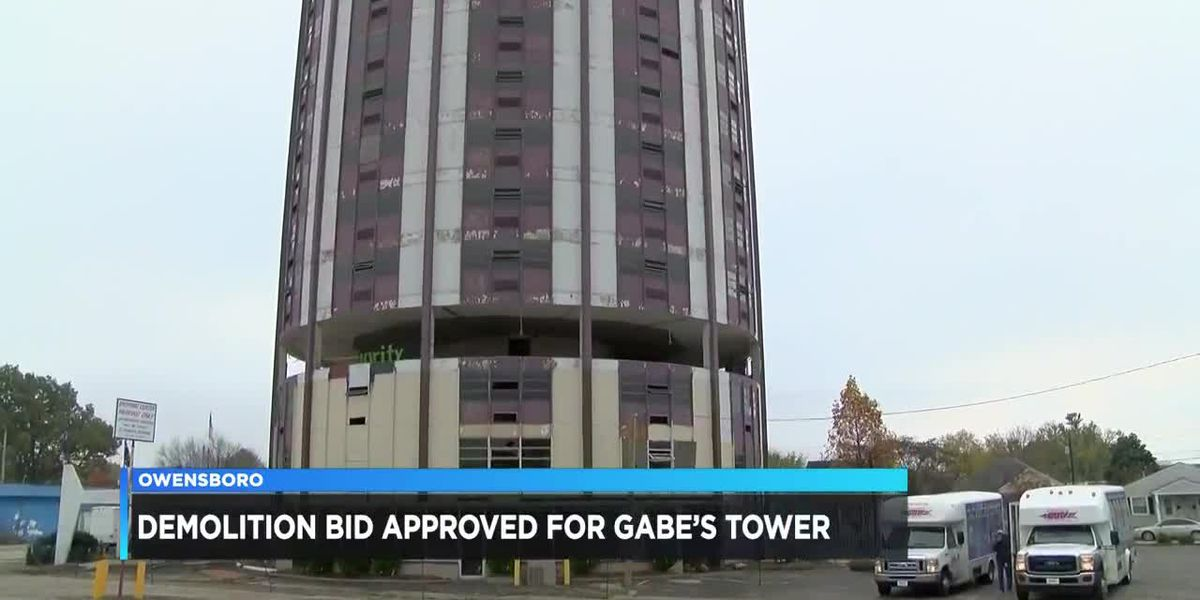 Demolition bid approved for Gabe's Tower