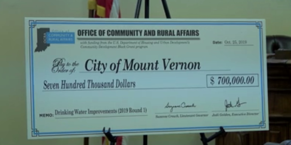Mt. Vernon receives grant for water pipes