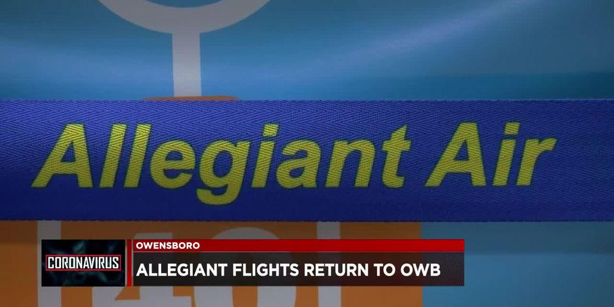Allegiant Air resuming flights to OWB Airport