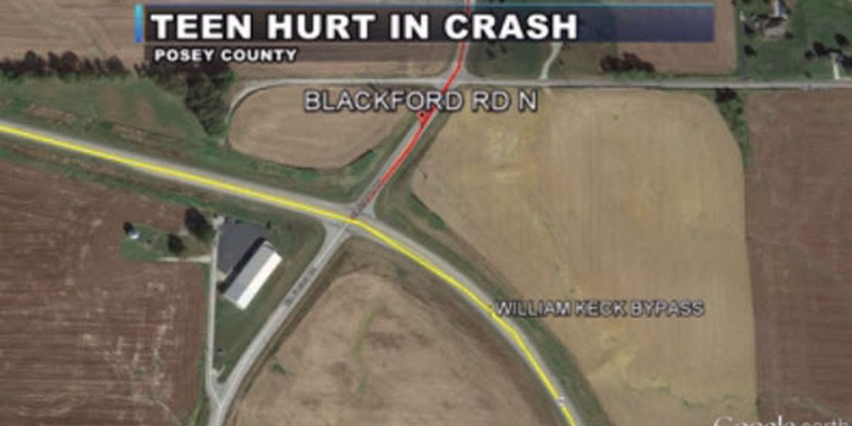 Posey Co. teen hospitalized after crash with semi