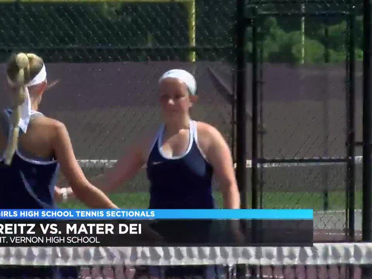 Mater Dei vs Reitz girls tennis sectional final