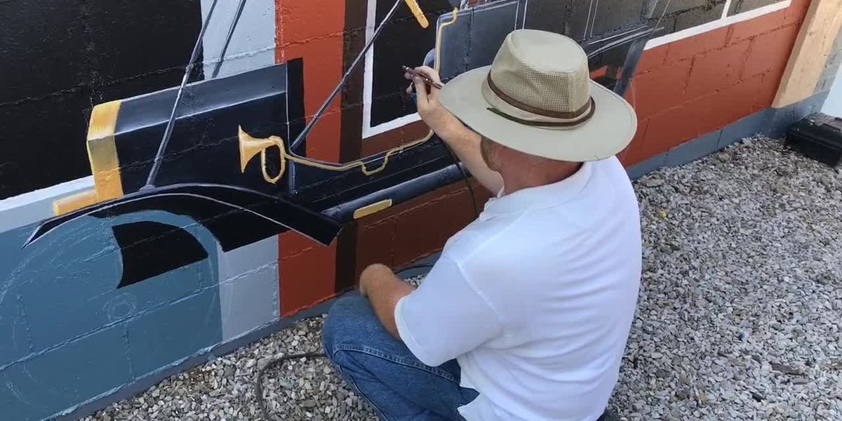 Mural in Boonville almost complete