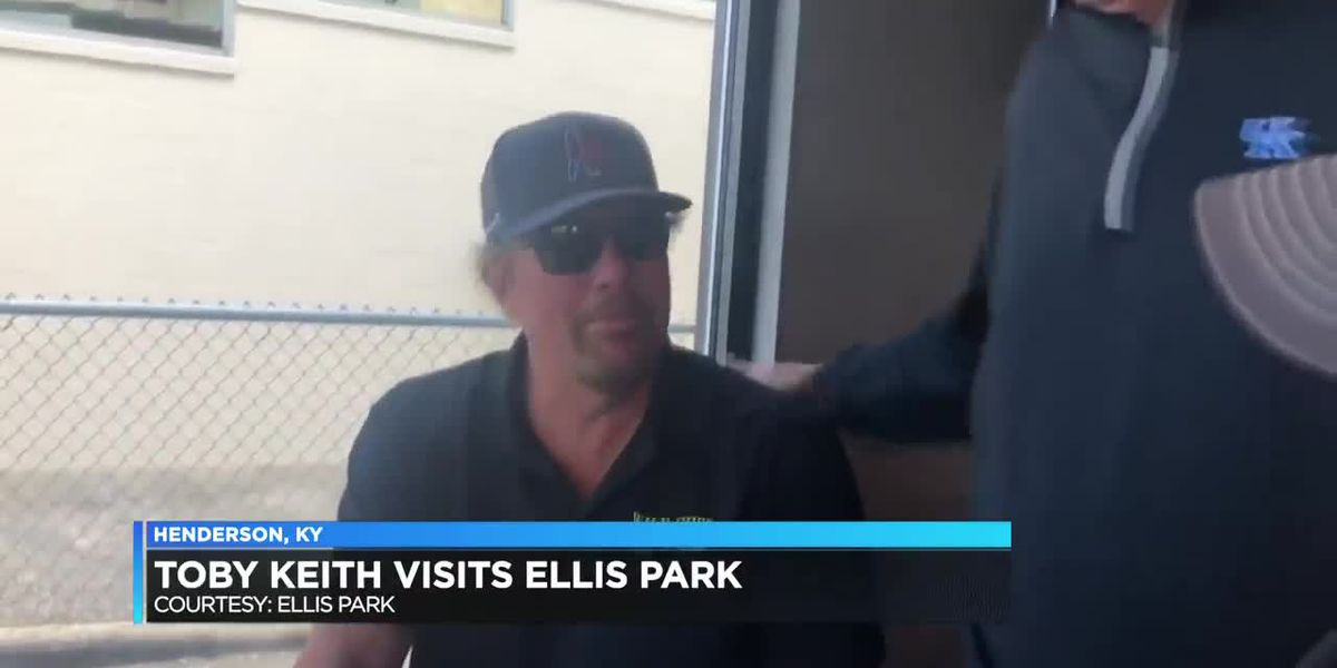 Country music star, Toby Keith, visits Ellis Park Sat.