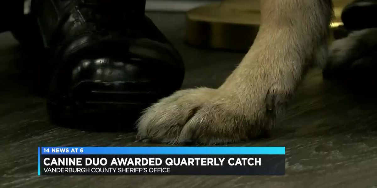 Vanderburgh County Sheriff's canine and deputy awarded with Quarterly Catch
