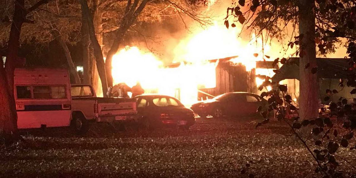 Boonville home destroyed by fire; 1 person taken to hospital