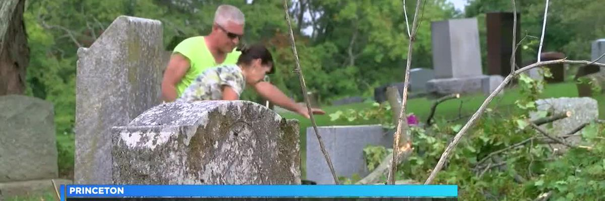 Community teams up to clean cemetery
