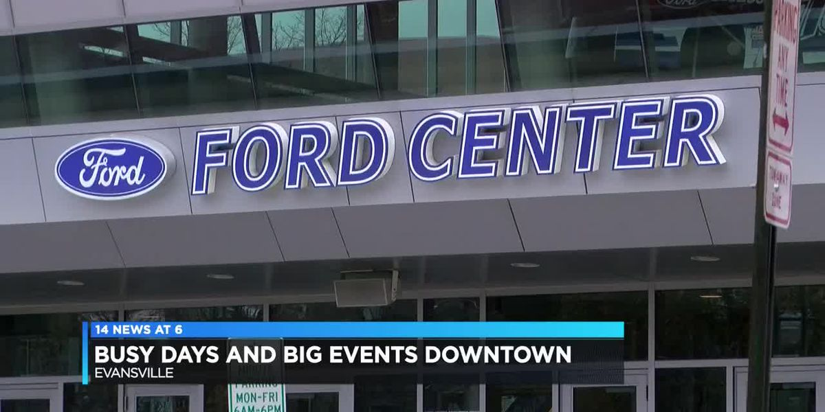 Busy time of year, big events draws crowds to downtown Evansville
