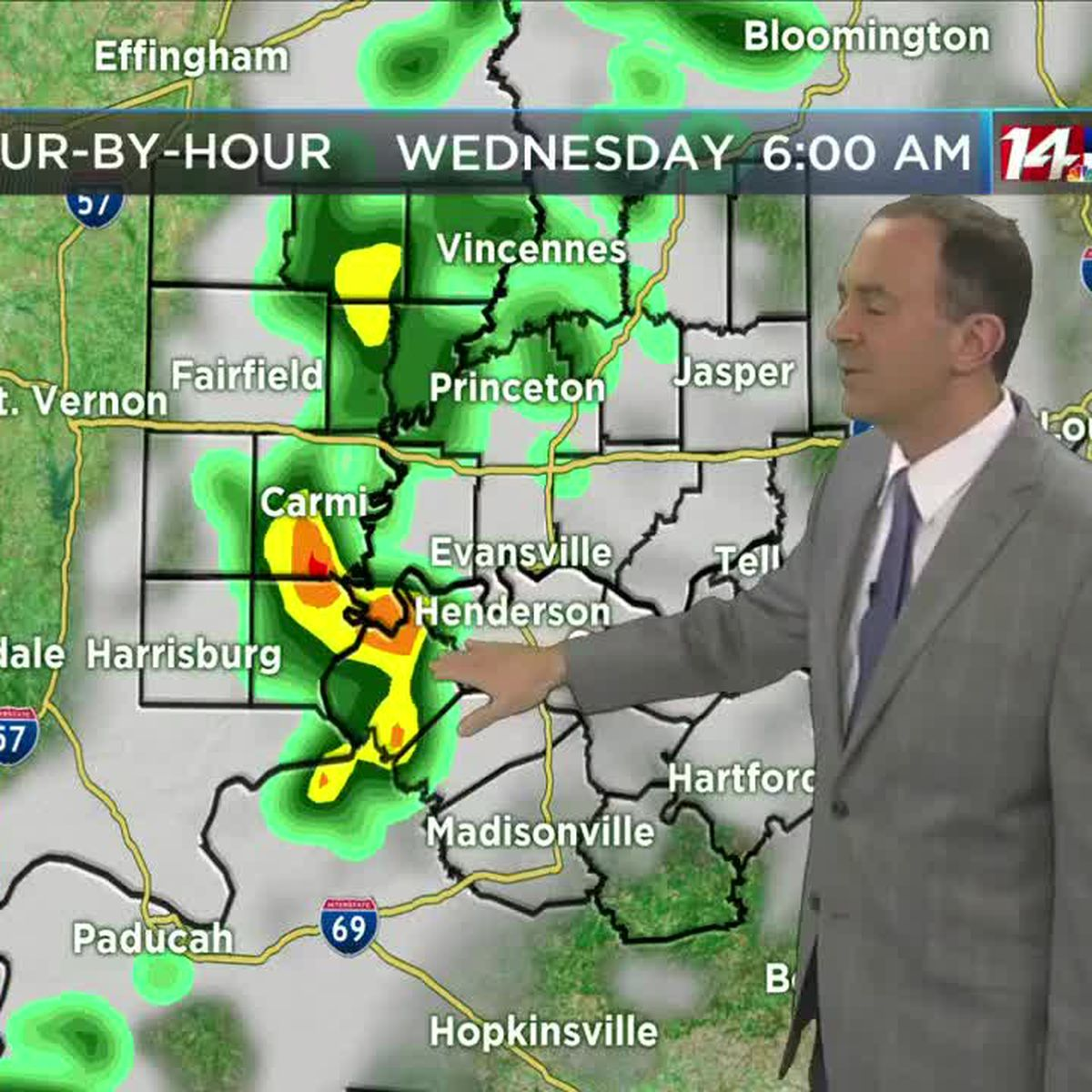 Storms overnight into early Wednesday