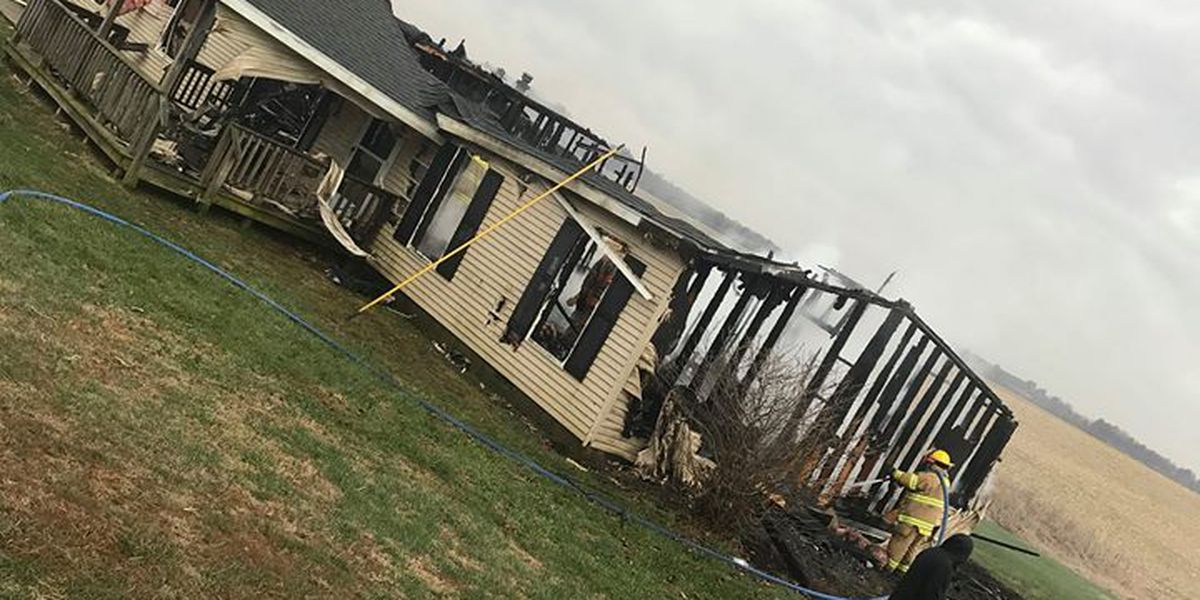 Home destroyed by fire in Gibson County