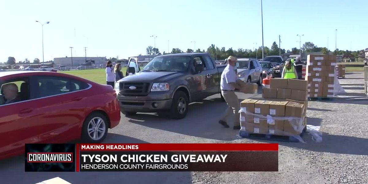 Tyson Food hosts drive-thru food giveaway Wednesday
